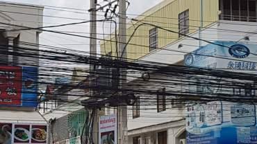 Phnom Penh power lines